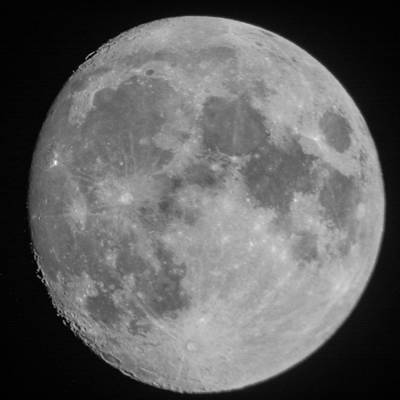 Photograph - The Moon At 94.7 Percent Full by Kenneth Cole