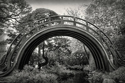 Photograph - The Moon Bridge B/w by Hanny Heim