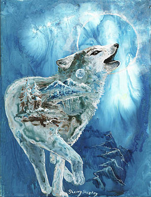 Painting - The Moon Calls by Sherry Shipley