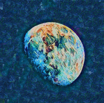 Painting - The Moon by Dan Sproul