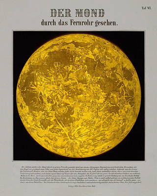 Royalty-Free and Rights-Managed Images - The Moon - Historical Illustration of the Surface of the Moon - Celestial Atlas - Celestial Maps by Studio Grafiikka