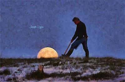 Moonlight Digital Art - The Moon Keeper - 3 Of 7 - Da by Leonardo Digenio