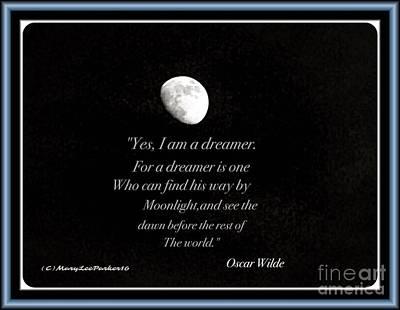 Oscar Wilde Digital Art - The Moon by MaryLee Parker