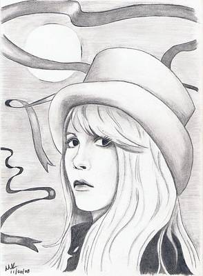 Stevie Nicks Drawing - The Moon by Michelle Kinzler