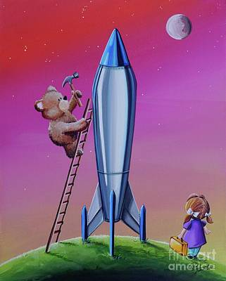 Launch Painting - The Moon Mission by Cindy Thornton