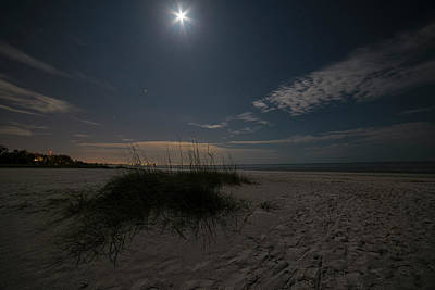Photograph - The Moon Over Fort Myers Beach Fort Myers Florida by Toby McGuire