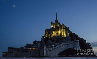 Moonrise Over Mont Saint-michel Print by Ning Mosberger-Tang