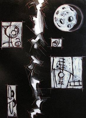 Narrative Painting - The Moon Saw It All Archived by Charlie Spear