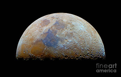 The Moon With The Transient Lunar-x Print by Luis Argerich