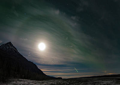 Photograph - The Moondog and the Meteor by The Captivated Projects