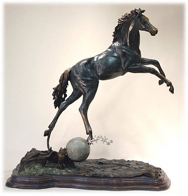 The Moonhorse Bronze Art Print