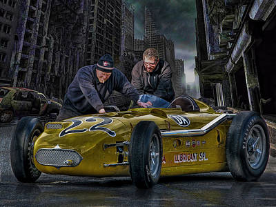 Indy Car Digital Art - The Moonlight Seems Dimmer In A Bad Neighborhood by Rat Rod Studios