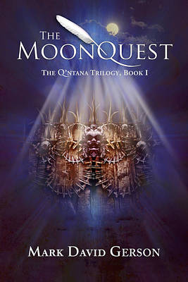 Digital Art - The Moonquest Book Cover by Mark David Gerson