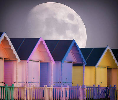Shadow Box Photograph - The Moons Glow by Martin Newman