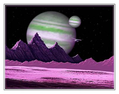 Digital Art - The Moons Of Meepzor by Scott Ross