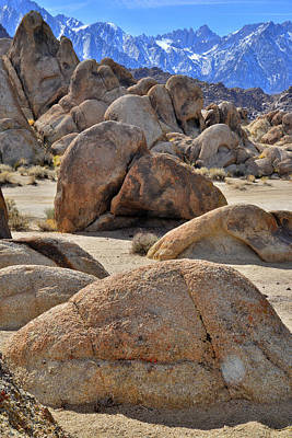 Photograph - The Moonscape Of The Alabama Hills by Ray Mathis