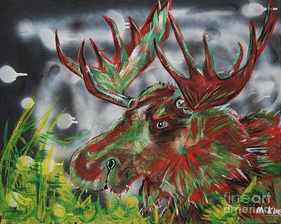 The Moose Art Print by Kevin King