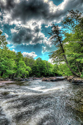 Tree Photograph - The Moose River At Nelson Falls by David Patterson