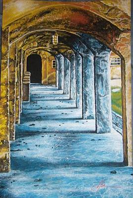 Mercer Tile Painting - The Moravian Tiles Works by Gill Sanchez