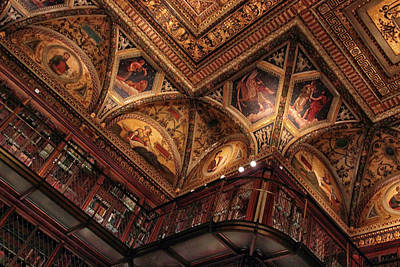 Photograph - The Morgan Library Ceiling by Jessica Jenney