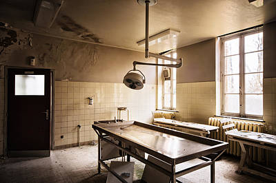The Morgue Autopsy Table - Abandoned Buildings Art Print