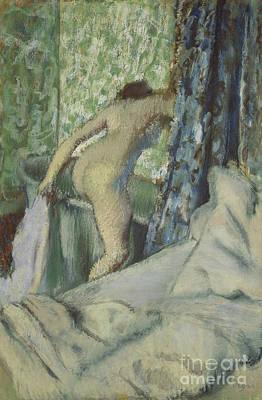Art For The Bathroom Pastel - The Morning Bath by Edgar Degas