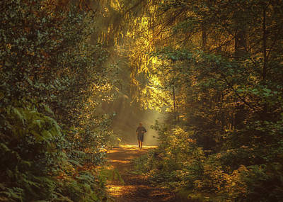 Jogging Photograph - The Morning Jog by Chris Fletcher