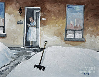 Verdun Painting - The Morning Paper by Reb Frost