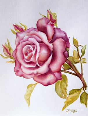 Painting - The Morning Rose by Inese Poga