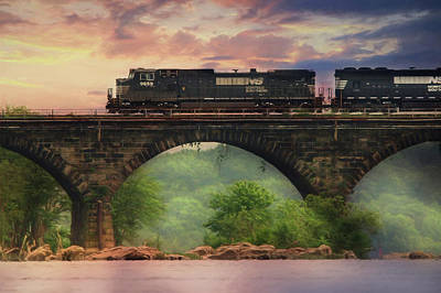 Norfolk Southern Railway Photograph - The Morning Run by Lori Deiter