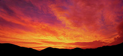 Photograph - The Morning Sky Ablaze by Richard Stephen