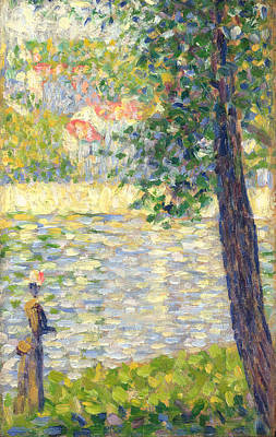 The Morning Walk Art Print by Georges Seurat