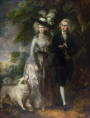 Outdoor Still Life Painting - The Morning Walk by Thomas Gainsborough