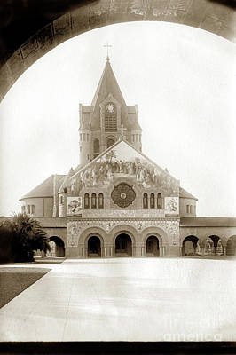 Photograph - The Mosaic Work On The Stanford Memorial Church December 1903 by California Views Mr Pat Hathaway Archives