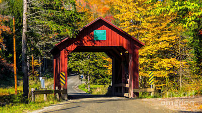 Photograph - The Moseley/stony Brook Covered Bridge by Scenic Vermont Photography