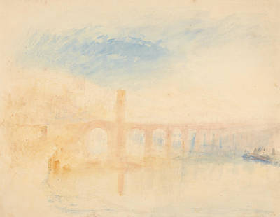 Painting - The Moselle Bridge Coblenz by Joseph Mallord William Turner