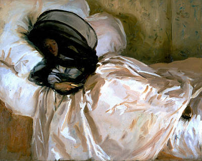 Reclining Woman Painting - The Mosquito Net by John Singer Sargent