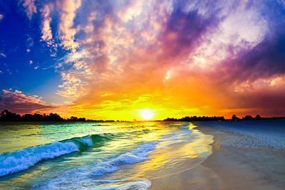 Art Print featuring the photograph The Most Beautiful Sunset In The World by Eszra Tanner