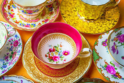 The Most Beautiful Tea Cups Print by Garry Gay