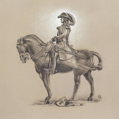 Art Print featuring the drawing The Most Illustrious John Churchill, First Duke Of Marlborough by Joe Winkler