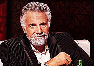 The Most Interesting Man In The World Art Print by Iguanna Espinosa