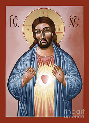 Painting - The Most Sacred Heart Of Jesus 120 by William Hart McNichols