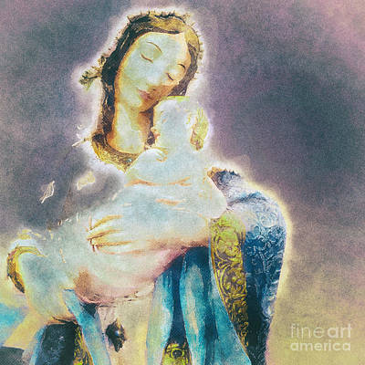 Madonna And Child Digital Art - The Mother And The Son by Davy Cheng