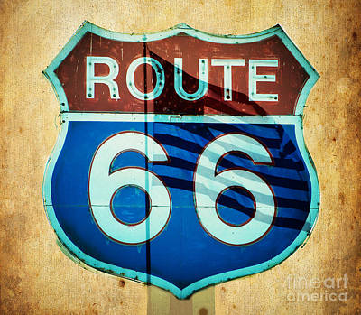 Photograph - The Mother Road Route 66 by MaryJane Armstrong