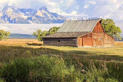 Photograph - The Moulton Barn On Mormon Row. by Johnny Adolphson