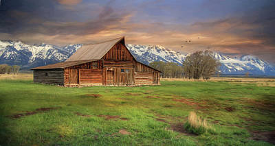 Barn Digital Art - The Moulton Ranch by Lori Deiter