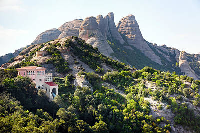 the mountain of Montserrat Art Print
