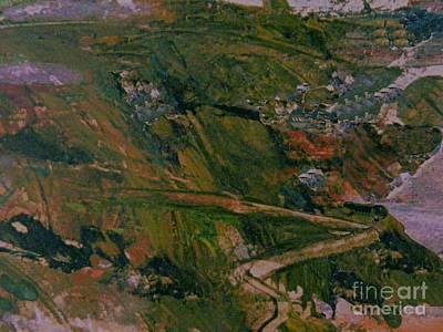 Mixed Media - The Mountain Road by Nancy Kane Chapman