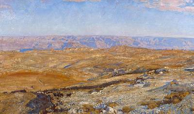 The Mountains Of Moab Print by John Singer Sargent