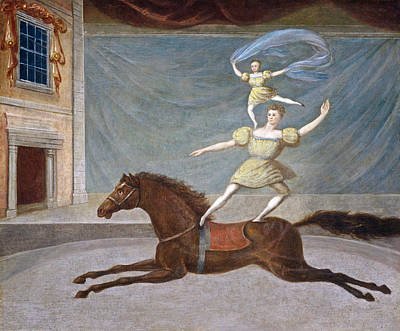 Painting - The Mounted Acrobats by American 19th Century